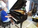 Weber WG50 Baby Grand piano serial #G080480 comes with cushioned piano bench