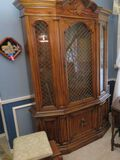 Walnut finished china cabinet to match the dining room table and chairs