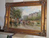 ornately framed oil