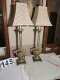 ornate table lamps with shades