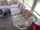 7 pc set Sectional sofa - light floral pattern - (3 corner pcs 32