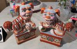 Pair of hand painted ceramic foo dog lions 7