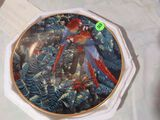 1994 Lenox Scarlet Macaws plate from Miracles of the rainforest  Plate # B1001