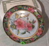Franklin Mint Heirloom - The Imperial Hummingbird plate  # JB3215  fine porcelain