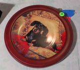 Porcelain Collector Plate by Christopher Nick - Oh, So Comfy - Dachshund - #A7607 Made in the USA