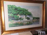 Framed Suzhou silk embroidery - Cliff scene  42
