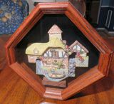 Framed three dimensional, hand made, hand painted artwork - Pershore Mill - by David Winter 10
