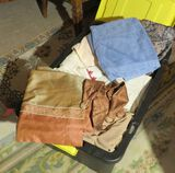 Large tote full of mixed antique linens