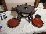 Mahogany urn stand - 12