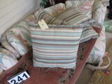 Group of 5 striped throw pillows