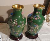 Green Cloisonne Chinese vase - 5
