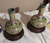 Pair of Cloisonne Chinese vases - 5