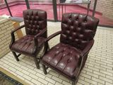 office leather arm chairs