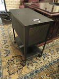 top load black metal file cabinet  24.75