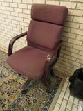 executive wood framed upholstered office chair