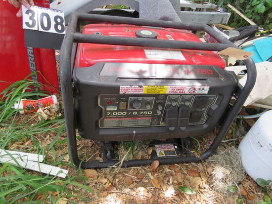 Predator 8750 generator (been sitting but appears to have never been used) weight 236 lbs