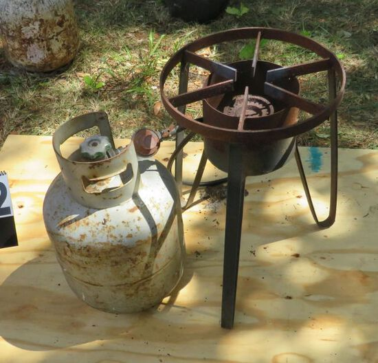 gas cooker with lp gas tank