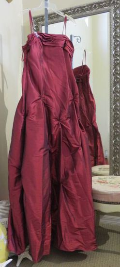 Xcite, size 16,  wine colored prom dress with spaghetti straps.  Plus size prom or pageant dress!  B