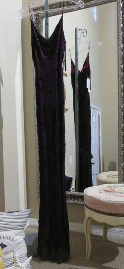 Hand-made, size M 7/8, Scala black beaded dress.  Perfect for any formal event.  Very elegant New wi