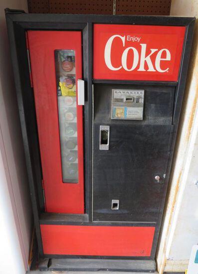 Coca Cola Dispenser;   29 W x 23 D x 56 H