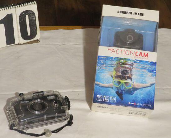 Sharper Image Action Camera and underwater camera