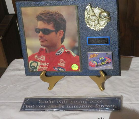Jeff Gordon Plaque and sign