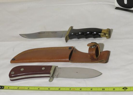 Muela Molibdeno Vanadio wooden handled knife with sheath