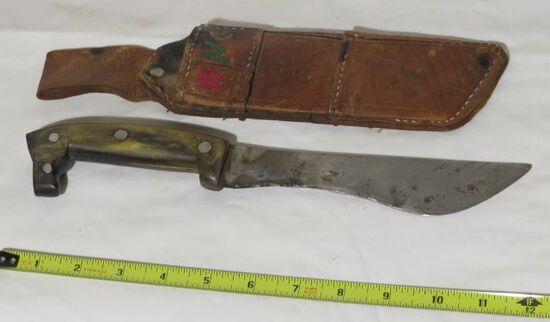 large knife with sheath