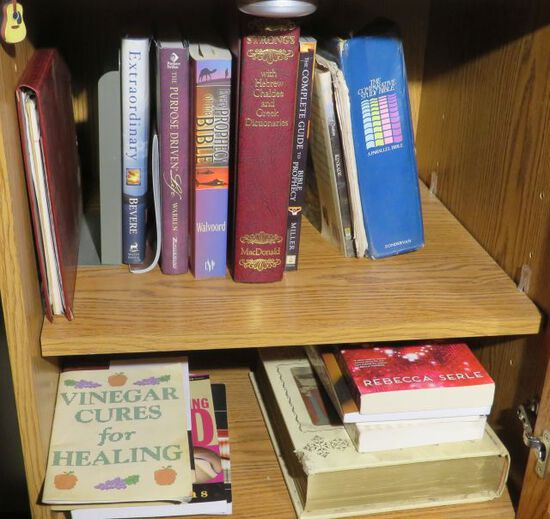 Biblical Study Books including Strong's Hebrew/Greek concordance, etc.