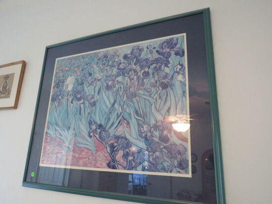 Framed Floral print 32 x 24 Van Gogh print