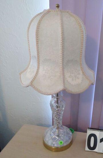 Glass lamp with Mushroom shape shade