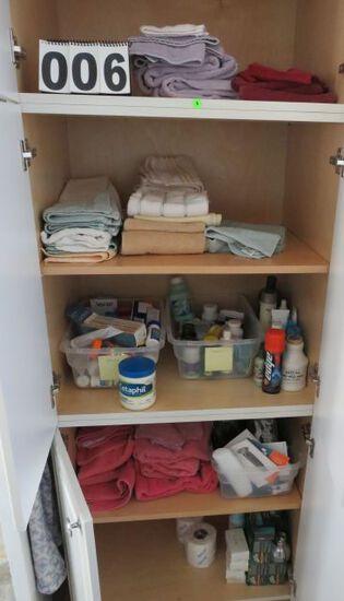 Master Bathroom closet, linens, towels