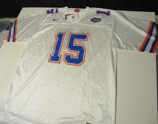 white #15 Florida Gators Jersey by Nike size XL