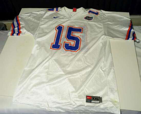 white #15 Florida Gators Jersey by Nike size XXL
