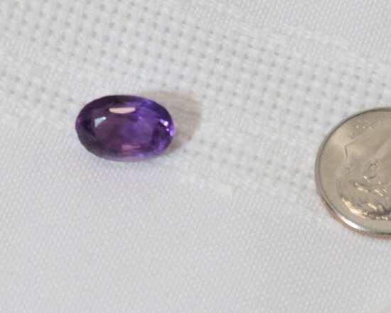 amethyst brilliant cut oval stone 8.52mm x 11.59 mm  4.5ct