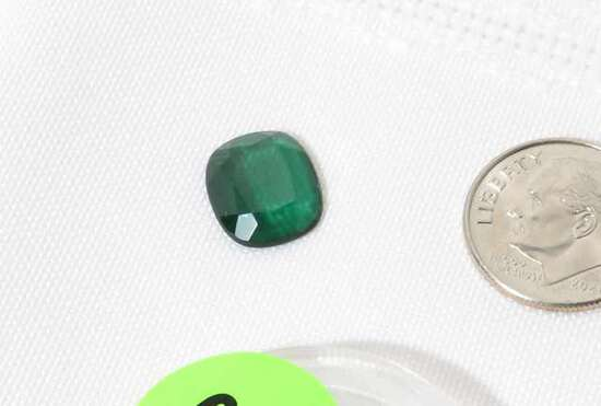 tourmaline emerald cut rectangular stone 10.22mm x 12.85mm