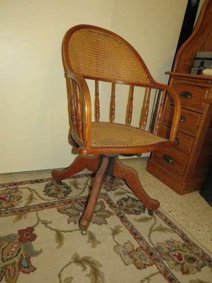 oak swivel office chair