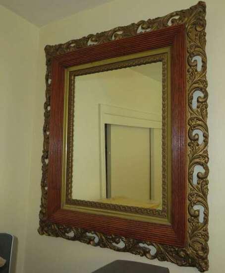 ornate antique framed mirror