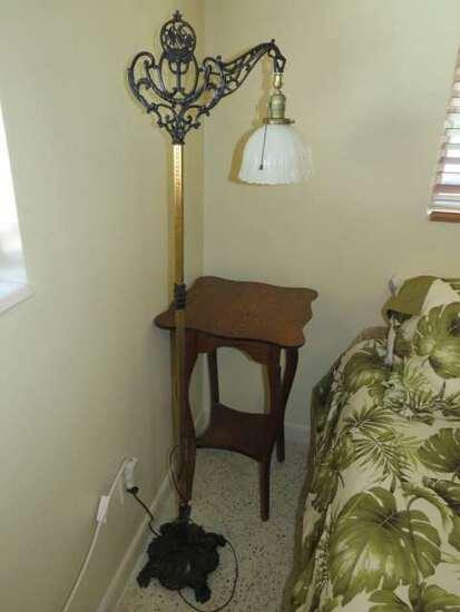 antique metal floor lamp