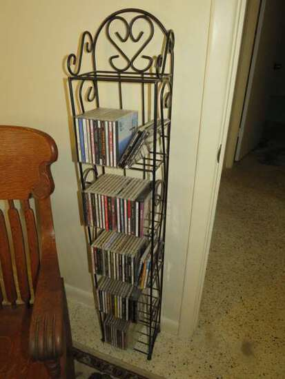 wrought iron cd rack (cd's shown are not included)