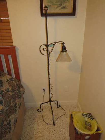 antique wrought iron floor lamp