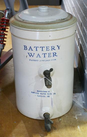 Nappanee Battery Water Crock