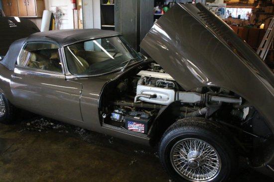 1974 Jaguar XKE  (color is sable)