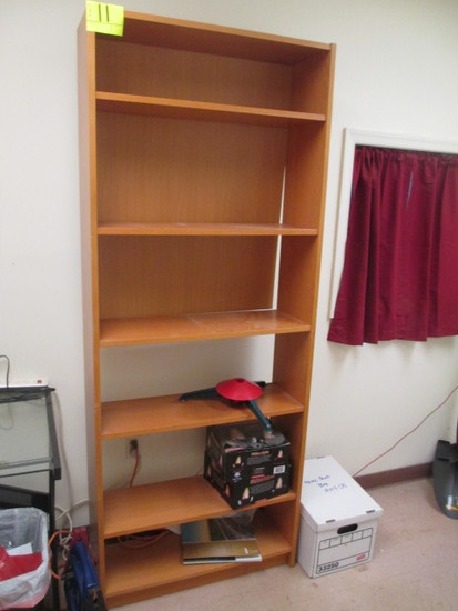 BOOKCASE 6 SHELF 32 X 10 X 80T