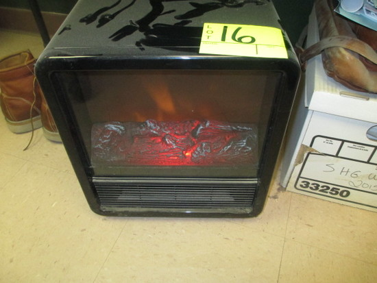 110V SPACE HEATER/FAUX FIREPLACE