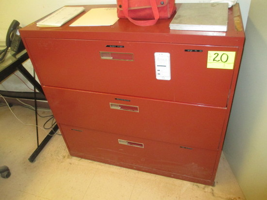 3 DRW. LATERAL FILE CABINET 42 IN. WIDE