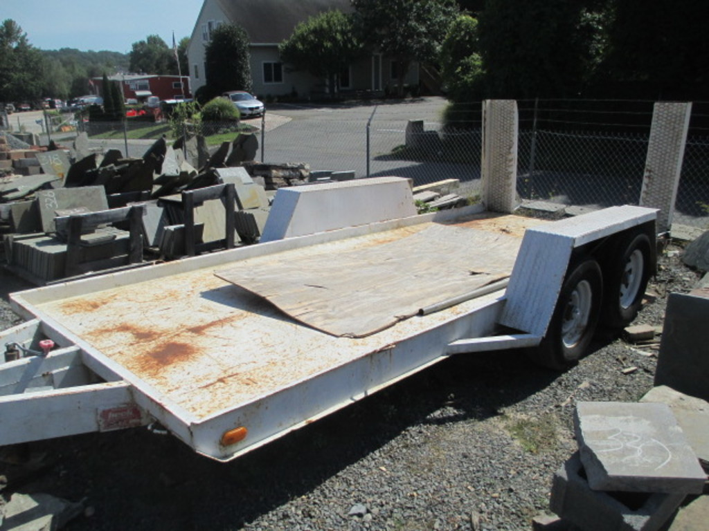 16 FT. BECK MIGHTY MOVER 10000 LB GVW SKID STEER TRAILER