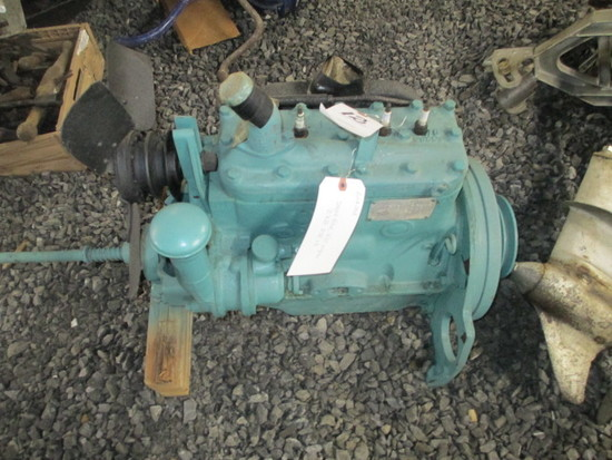 INDUSTRIAL ENGINE-4 CYL. FLATHEAD. EQUIPPED WITH GOVERNOR MECHANISM. MAKE UNKNOWN.