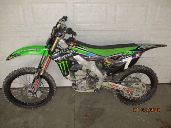 2013 KAWASAKI 250 MX/DIRT BIKE-10 ORIGINAL HOURS