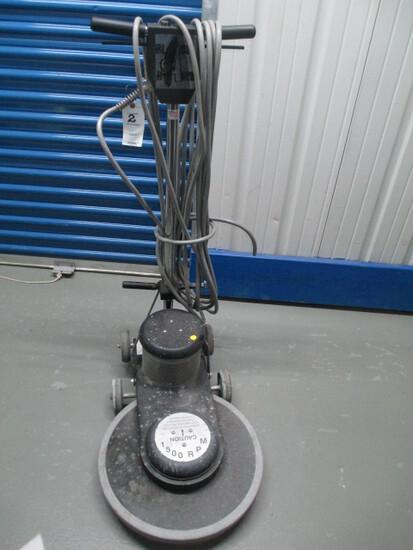 FLOOR BUFFER-BLACKHAWK 1500 RPM-NEEDS REPAIR CORD CUT.